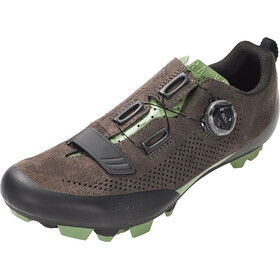 Fizik Terra X5 Suede Zapatillas MTB, dark brown/sage green